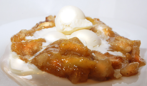 The Nana's Peach Cobbler